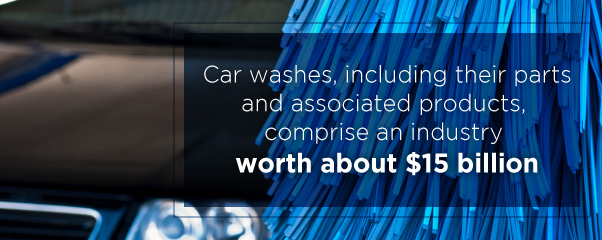 car washes comprise an industry worth about $15 million